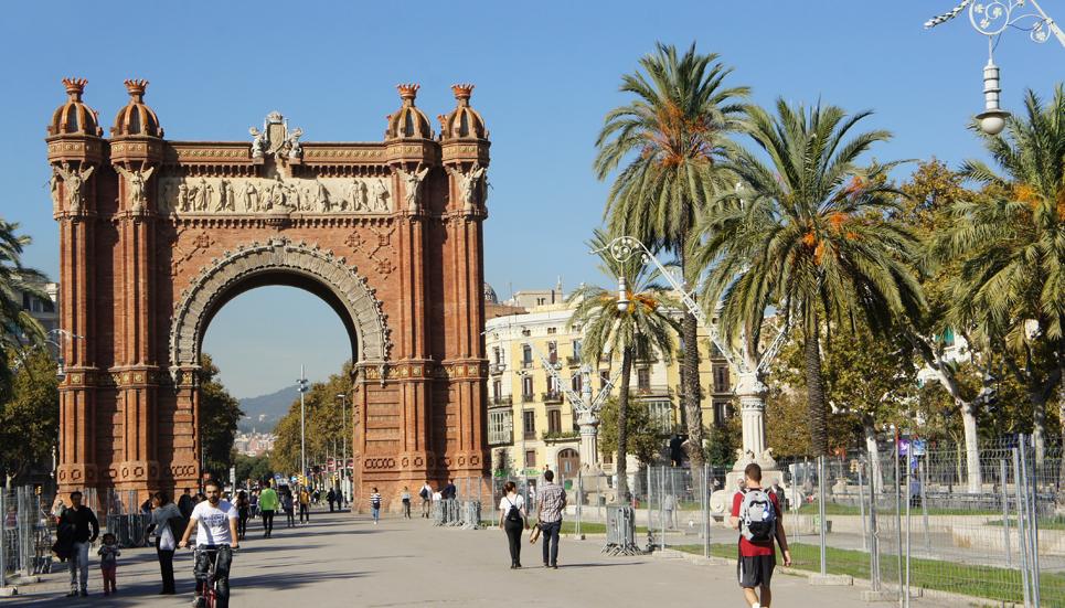 Triumfa arka uzcelta par godu Starptautiskajai Barselonas izstādei, kas notika 1888. gadā, un šī arka kalpojusi kā ieeja izstādē.
